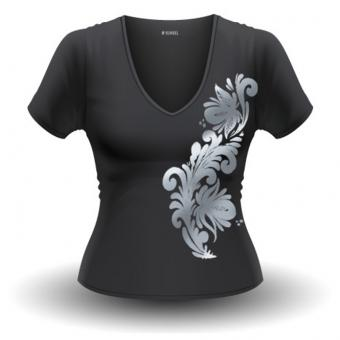 T-Shirt Bembel-Schwünge, grau, Frauen M