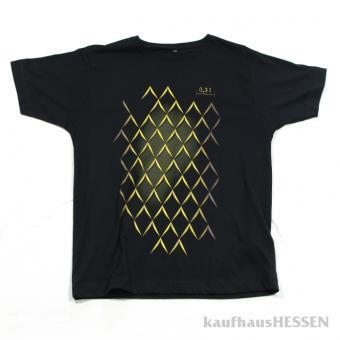 T-Shirt Geripptes, schwarz, Männer L