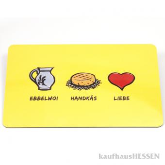 Brettchen Ebbelwoi Handkäs Liebe