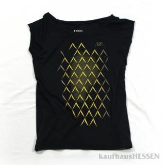 T-Shirt Geripptes, schwarz, Frauen L