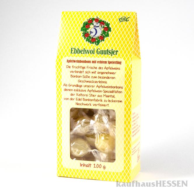 Ebbelwoi-Guutsjer gelb mit Speierling