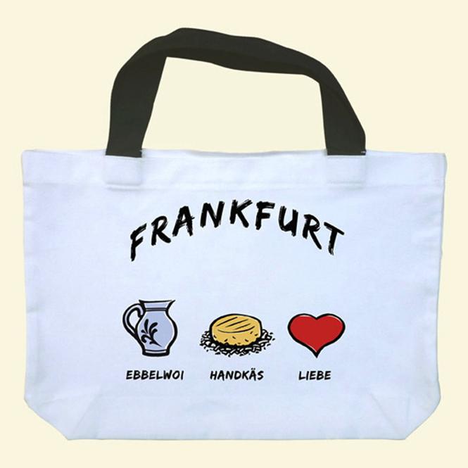 """Einkaufstasche """"Frankfurt: Ebbelwoi-Handkäs-Liebe"""""""