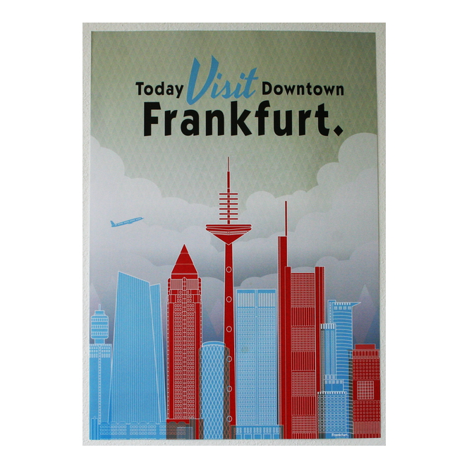 Poster Frankfurt Downtown Skyline Messeturm