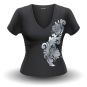 T-Shirt Bembel-Schwünge, grau, Frauen