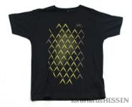 T-Shirt Geripptes, schwarz, Männer M