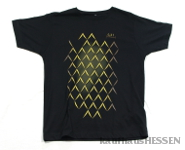 T-Shirt Geripptes, schwarz, Männer XL