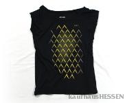 T-Shirt Geripptes, schwarz, Frauen S