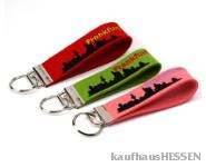 Filz-Schlüsselanhänger Frankfurt Skyline rot