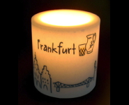 Lampionkerze Skyline Frankfurt